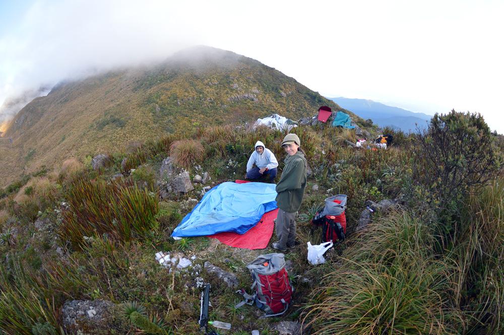 Segundo acampamento, logo após o vale do Ruah.