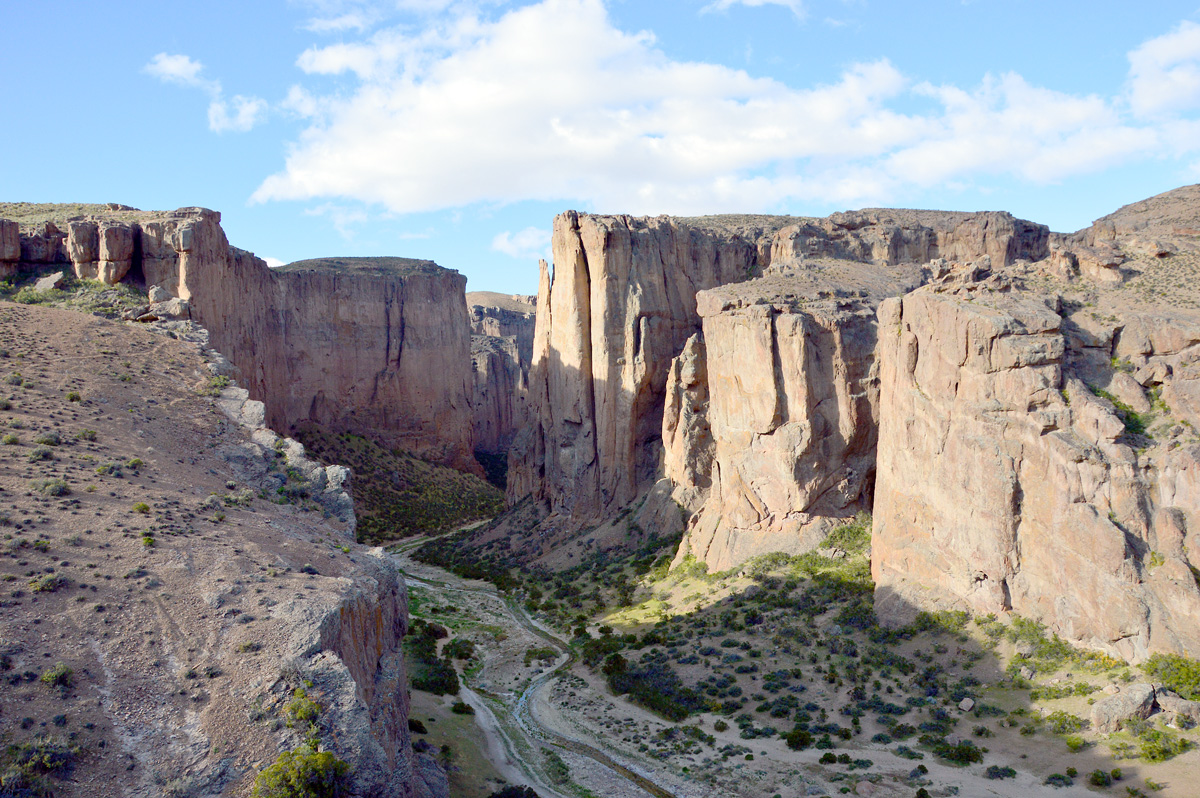 Entrada do canyon de La Buitrera.