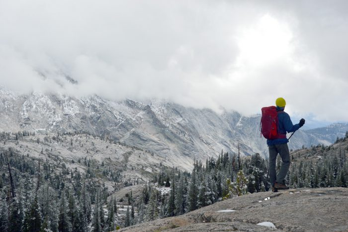 Tuolumne Meadows nevado no dia seguinte.