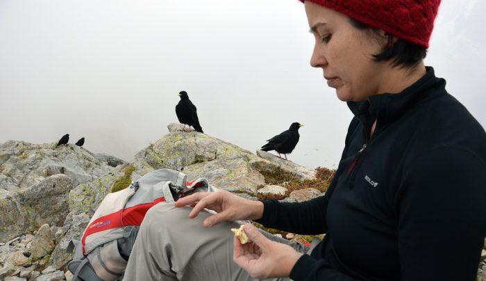 Ana, usando o X-Thermo nos Alpes. Excelente controle térmico e conforto.