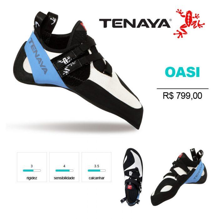 OASI - Sapatilha esportiva, com excelente precisão e sensibilidade.