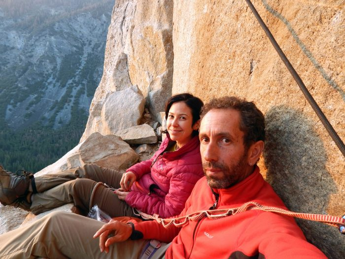 Com Ana e o X-Power no bivaque da Leaning Tower, Yosemite.