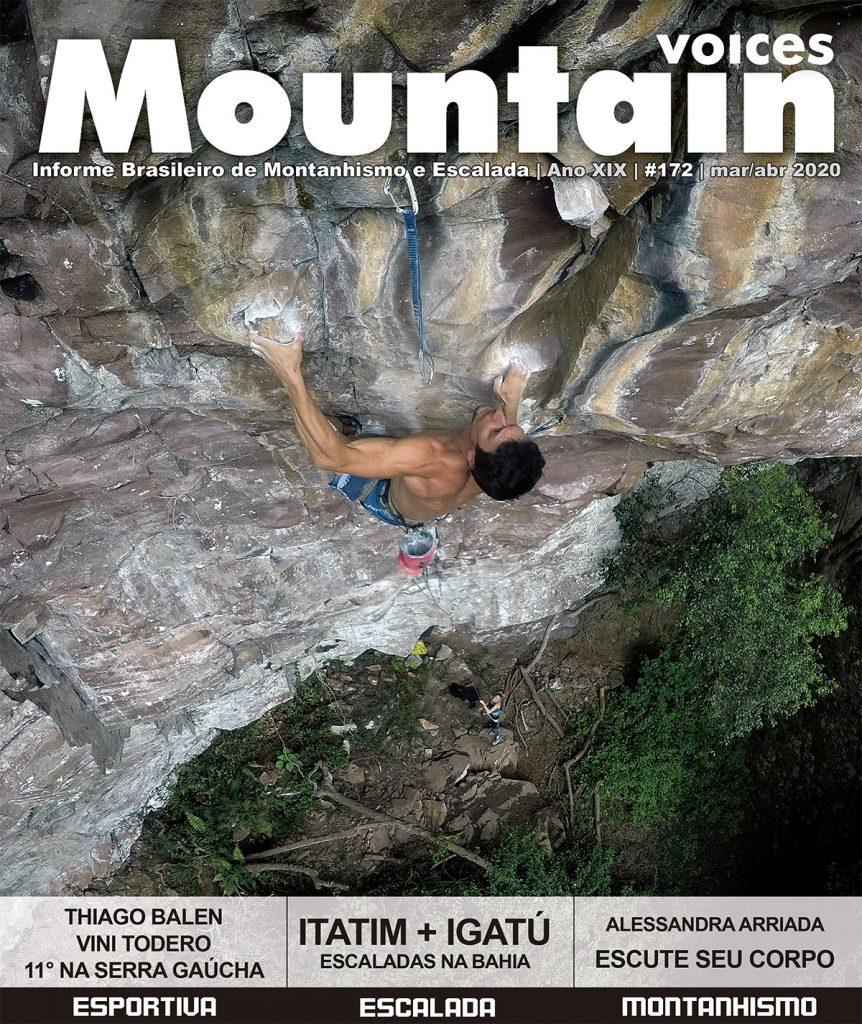 """Mountain Voices 172, com Vini Todero na via """"Nada é por acaso"""", 11a - Noel Rocks, RS"""