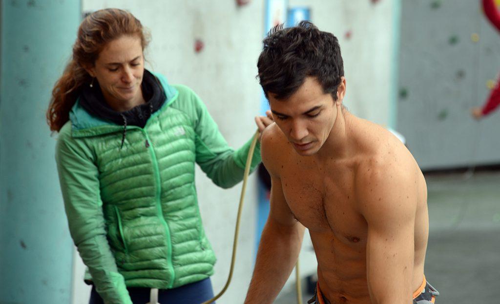 Tati e Cesinha, treinando em Arco, Itália
