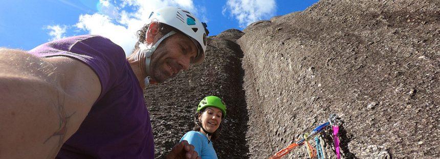 Pedra Riscada – escalando rápido na grande parede